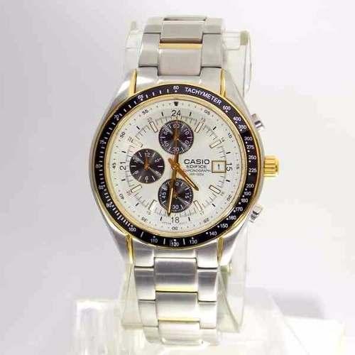 EF-503SG-7AV Relógio Casio Edifice Mostrador Branco  - E-Presentes