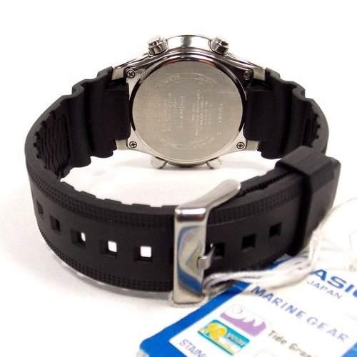 AMW-710 1AV Relógio Casio Marine Gear Graficos Mare Lua Novo  - E-Presentes