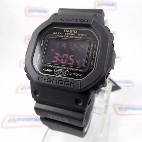 40392873107 DW-5600 MS 1DR Relógio Casio G-shock Matte Black Red Eye - E-Presentes