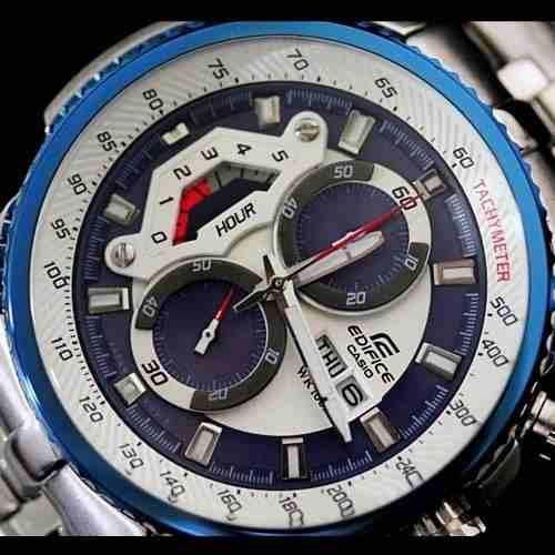 Ef-558d 2av Relógio Casio Edifice Cronograph 100m Azul  - E-Presentes