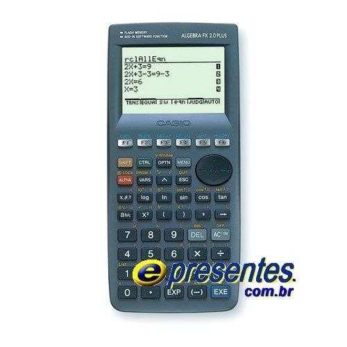 Calculadora Gráfica Casio Algebra Fx 2.0 Plus + 1500 Função  - E-Presentes