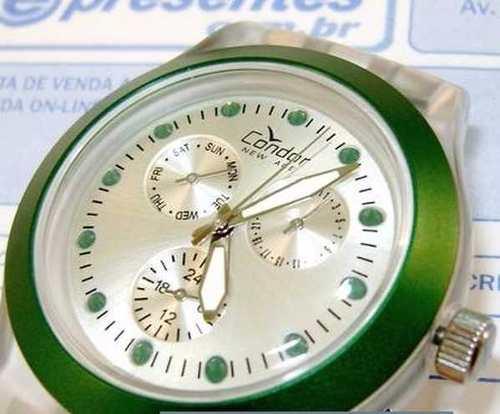 Relógio Feminino Condor New Age KZ25049G Strass Verde  - E-Presentes