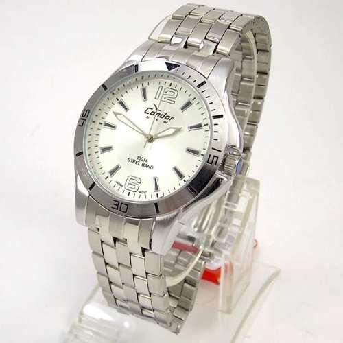 Relógio Masculino Condor Pulseira Aço Wr100m KT20291B  - E-Presentes