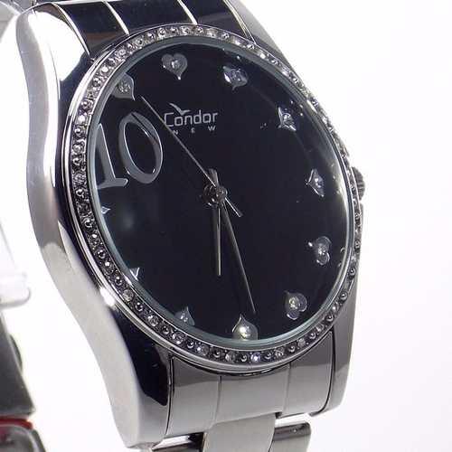 Relógio Feminino Condor New Metal Com Strass KW26309P  - E-Presentes