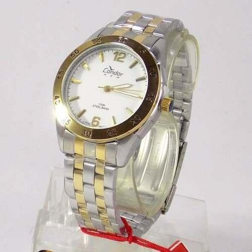 Relógio Masculino Condor KT70246B Prateado Pulseira Mista  - E-Presentes
