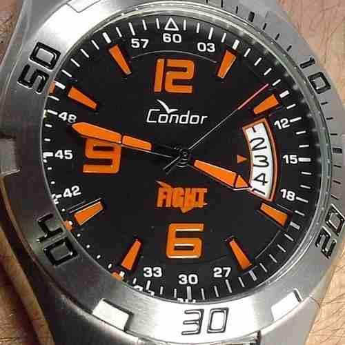 KO20027P Relógio Condor Fight Masculino Aço Serie Jose Aldo  - E-Presentes