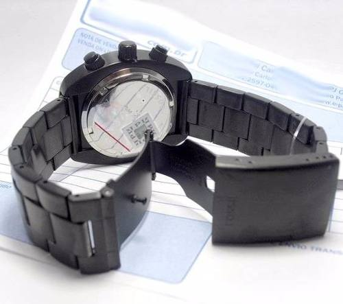 FCH2777 Relogio Fossil Black Ion-plated Stainless Steel Novo  - E-Presentes
