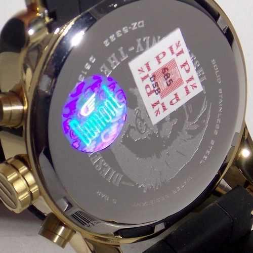 Relogio Diesel Feminino IDZ5322N Silicone Preto E Dourado  - E-Presentes