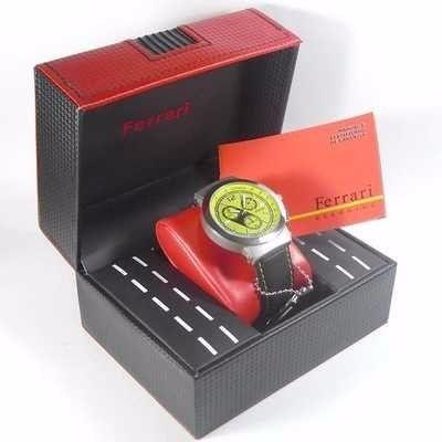 Fc007-a Relógio Ferrari Runner Cronógrafo Masculino Pulseira Couro  - E-Presentes