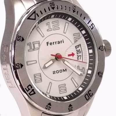 FA001-B Relógio Masculino Ferrari  WR200m Aço Inox - 100% AUTÊNTICO  - Alexandre Venturini