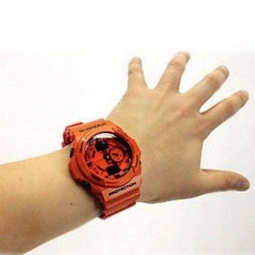 Relógio Casio Gshock Ga-150a-4adr Orange Analógico Digital  - E-Presentes