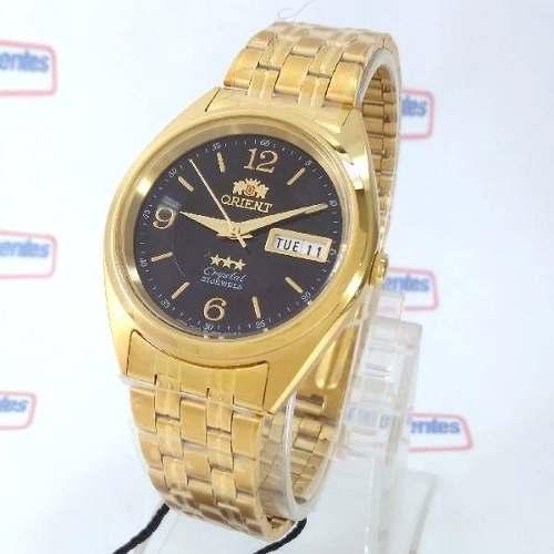 Relogio Orient Automatico Dourado 37mm Masculino FAB0000CB9  - E-Presentes