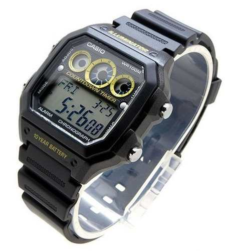Relógio Casio Digital Com 9 Temporizadores Ae-1300wh  - E-Presentes