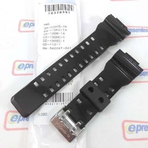 Capa Bezel + Pulseira Casio G-shock Preto Brilhante Ga-110hc  - E-Presentes
