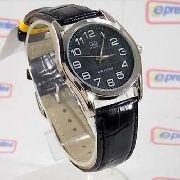Relógio Masculino Pulseira Couro Q&Q Q638J305Y Maq. Citizen