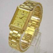 Relógio Orient Dourado Fundo Amarelo 100% Original Quadrado