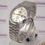 Relógio Orient Automático Prateado Masculino 36mm FEM6Q00FW9