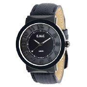 Relógio Unissex Ewc Grande EFT11376-P Preto Pulseira Couro