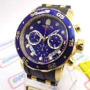 Relogio Masculino Invicta 6983 Pro Diver Cronograph Gold