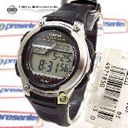 W-212H-1AV Relogio Casio Digital 5 Alarmes Wr50 Illuminator