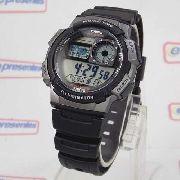 AE-1000W 1BV Relógio Casio World Time 5alarmes Wr 100 Luz
