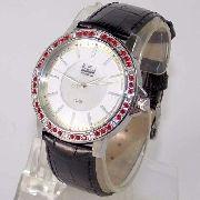 Relógio Feminino Dumont Couro Madrepérola Cristais SX35196V