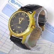Relógio Masculino Pulseira Couro Maquina Miyota 43mm Wr Novo