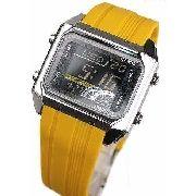 Relogio Casio Edifice Digital EFD-1000 9VDF Resina Amarelo