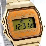 Relógio Feminino Dourado A159WGEA Casio Retro Vintage