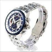 Ef-558d 2av Relógio Casio Edifice Cronograph 100m Azul