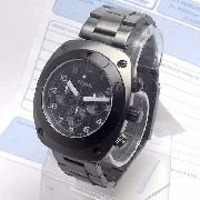FCH2777 Relogio Fossil Black Ion-plated Stainless Steel Novo