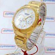 Relógio Feminino Dourado Technos Madrepérola 6P29GV Grande