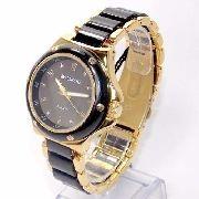 AV2290-2 Relógio Feminino Dourado E Preto Avalanche