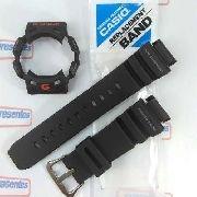 Kit Capa Bezel + Pulseira Casio G-shock G-9100 Gulfman Preto
