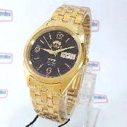 Relogio Orient Automatico Dourado 37mm Masculino FAB0000CB9