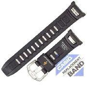 Pulseira Casio Protrek Prg-130 Prw-1500 Resina Preta 100% Original *