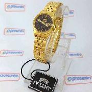 Relógio Orient Automatico Feminino Mini Dourado FNQ1S003B9
