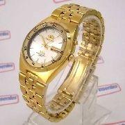 Relógio Orient Masculino Automático Dourado Fem6h00hw9