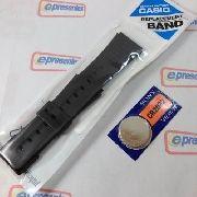 Pulseira Casio Preta Cmd-40 + Bateria 100% Original