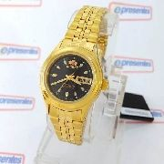 Relógio Feminino Orient Automatico Dourado Mini Fnq0400bb9