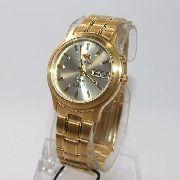 Relógio Orient Automatico Dourado  Fem0201uc9 35mm