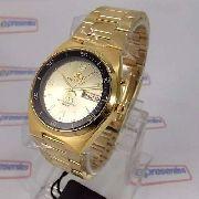 Relógio Masculino Automático Dourado Orient Fem6h00jc9