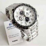 Relógio Casio Edifice Fundo Branco Ef 539d-7av -100% Original