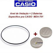 2 Baterias + Anel Vedação traseiro para MDV-701 - Peças Originais