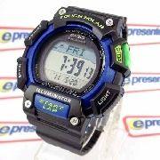 Relógio Casio Digital Stl-s110h-1b Wr100m Bateria Solar