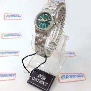 Relógio Orient Automático Feminino Verde Wr50 100% Autêntico