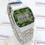 A168wec-3df Relógio Casio Retro Camuflado 100% Original A168