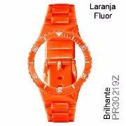 Pr30219z Pulseira Champion Laranja Fluor Brilhante Original