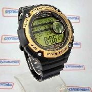 Ae-3000w 9avdf Relogio Casio Digital World Time Grande 55mm
