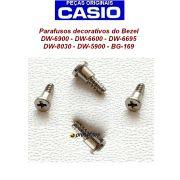 4 Parafusos Bezel Casio G-shock AW-510 DW-6695 DW-6600G DW-6600F-5V DW-8030 BG-169 DW-6900 DW-5900